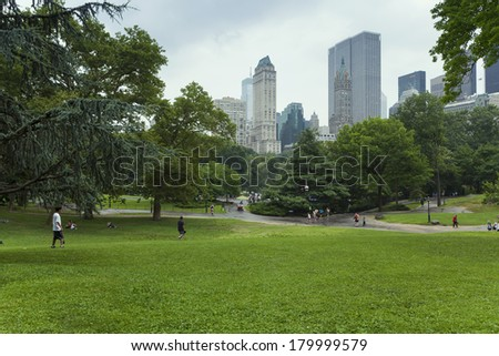 central park in new york - stock photo
