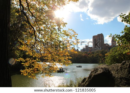 Central Park in the Fall - beautiful - stock photo