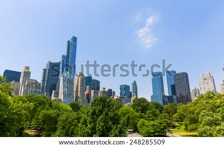 Central Park Manhattan New York US - stock photo