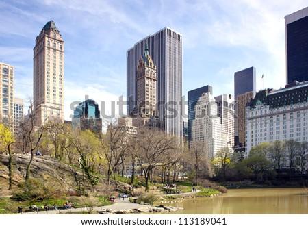 Central Park, New York. - stock photo