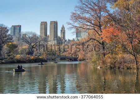 central park new york city - stock photo