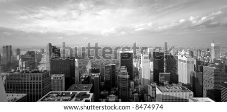 central park - new york - Manhattan - view from the roof of the Rockefeller building - 2006 - stock photo