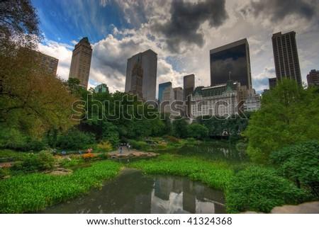 central park NY view - stock photo