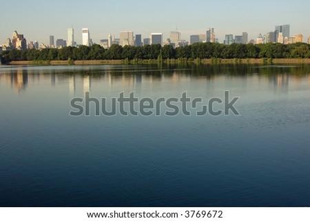 Central Park Reservoir - stock photo