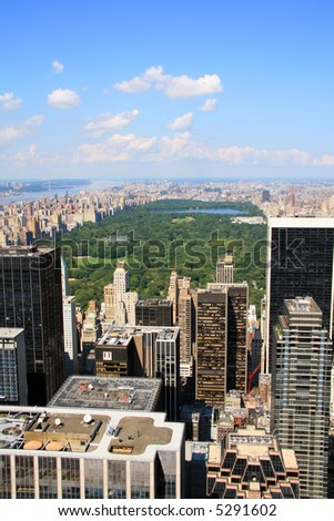 Central Park within New York City - stock photo