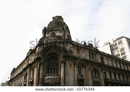 Central police station located in the central part of Rio de Janeiro - stock photo