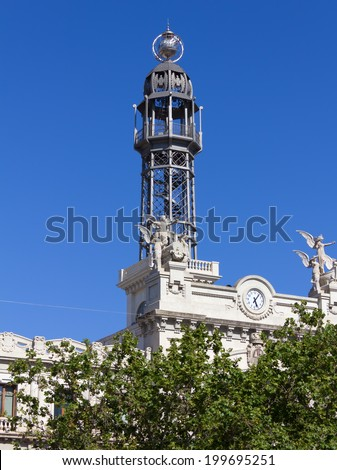Central Post Office Tower in Valencia, Spain