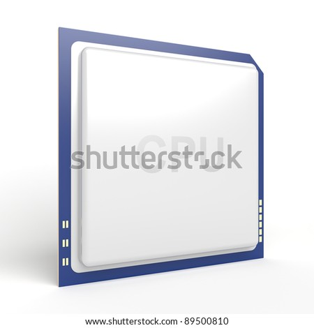 Central processing unit (CPU) on white background - stock photo