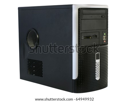 central processing unit under the white background - stock photo
