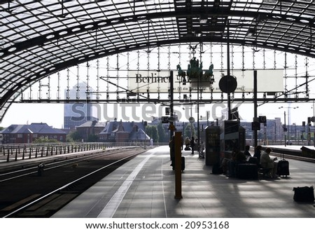 Central railroad station in Berlin