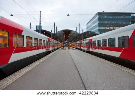 Central railway station in Helsinki, Finland - stock photo