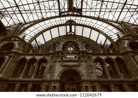 Central station - stock photo