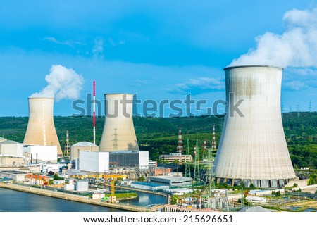 Centrale Nucl�©aire de Tihange  - stock photo