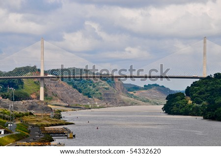Century bridge connecting North and South America - stock photo
