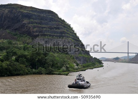 Century bridge in the Panama Channel connecting North and South America - stock photo
