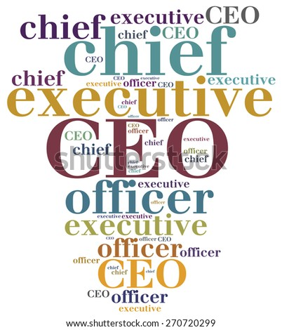 CEO. Chief executive officer. Corporate business concept. - stock photo