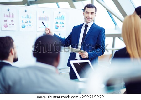 CEO explaining his plan - stock photo