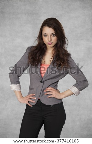 CEO in woman business world - stock photo