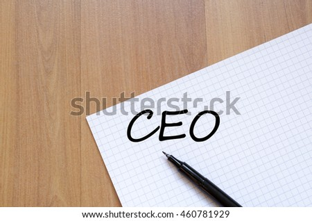 Ceo text concept write on notebook