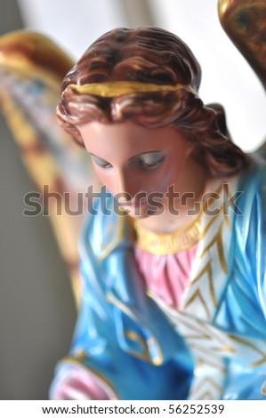 Ceramic Angel Statuary Christianity - stock photo