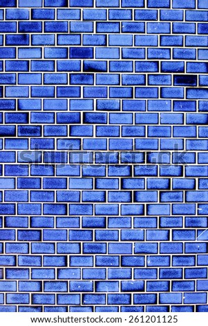 Ceramic block wall texture - stock photo