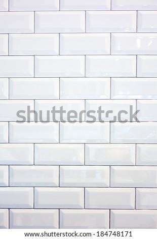 ceramic brick tile wall - stock photo