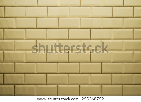 ceramic brick tile wall - stock photo