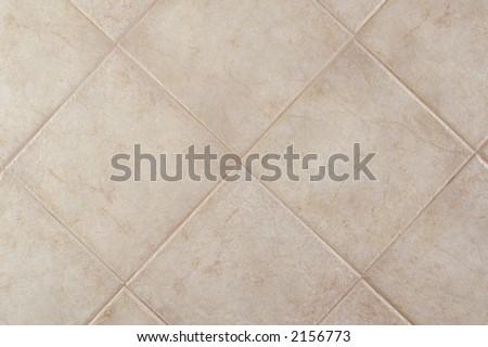 Ceramic floor tile field (bone color) - stock photo