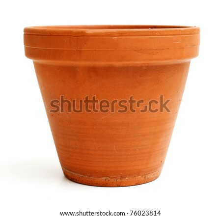 ceramic garden pot - stock photo