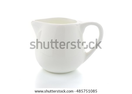 Ceramic Glass Pitcher Isolated on White Background.