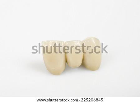 ceramic incisors - stock photo