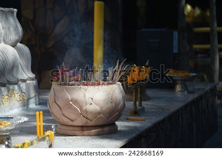 ceramic joss stick pot