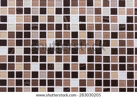 ceramic mosaic background in swimming pool or kitchen - stock photo