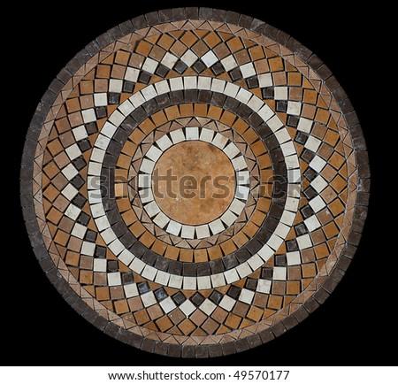 Ceramic mosaic tile medallion - stock photo