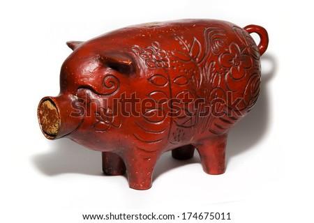 Ceramic Piggy Bank - stock photo