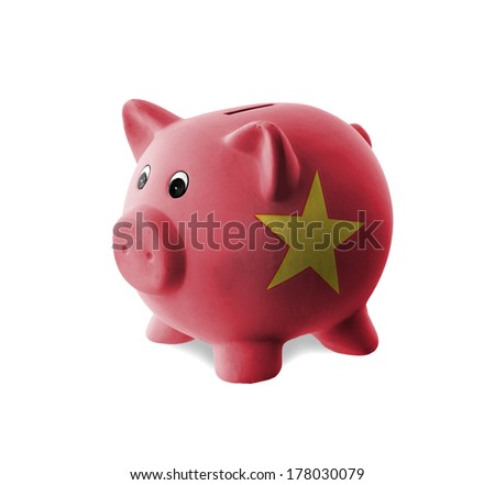 Vietnamese coins stock photos images pictures for How to paint a ceramic piggy bank