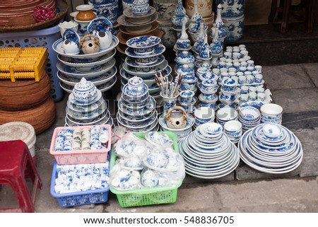 ceramic plates and bowls with decorative patterns