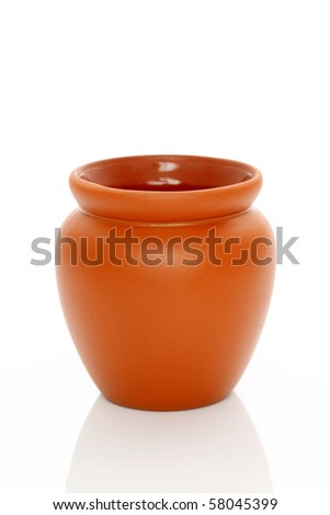 Ceramic pot - stock photo
