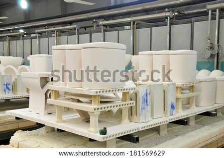 Ceramic products are plants  - stock photo