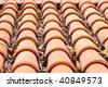 ceramic roof - stock photo