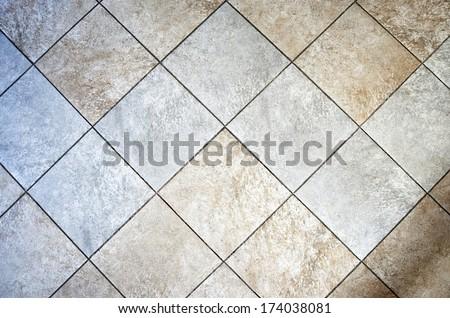Ceramic rustic tiled floor - stock photo