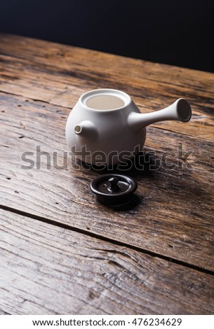 Ceramic teapot with packing box