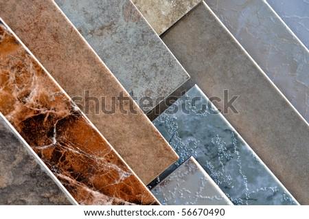 Ceramic Tile  Display Samples Store - stock photo