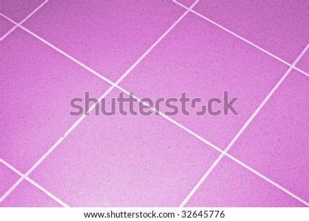 Ceramic tile floor pink color. Shallow DOF - stock photo