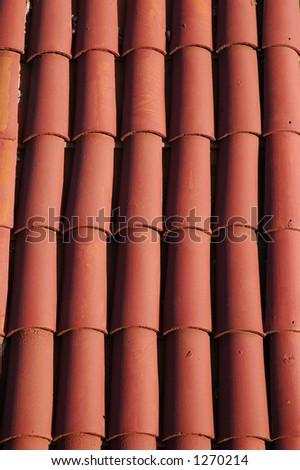 Ceramic Tile Roof - stock photo