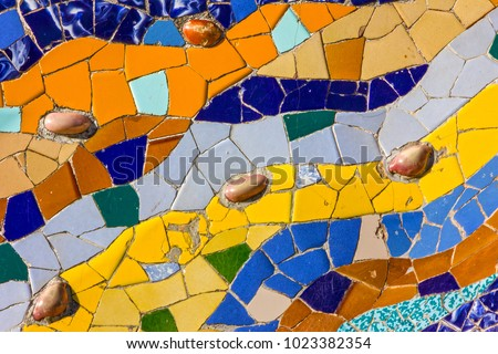 Ceramic Tile Vintage Pattern Broken Glass Stock Photo (Edit Now ...