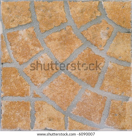 Ceramic tile with brick texture that creates a circular pattern - stock photo