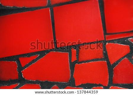 Ceramic tiled background - stock photo