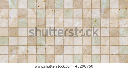 Ceramic tiles beige mosaic - stock photo
