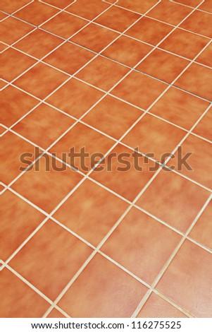 ceramic tiles on the floor - stock photo